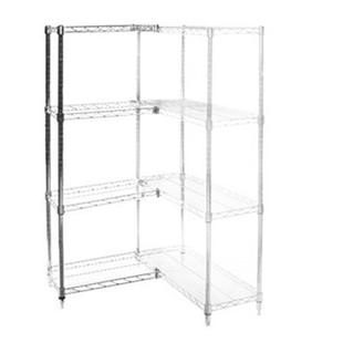 "Wire Shelving Add On Kit with 4 Shelves - 8""d x 24""h"
