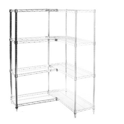 "Wire Shelving Add On Kit with 4 Shelves - 14""d x 36""h"