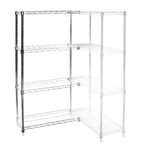 "Wire Shelving Add On Kit with 4 Shelves - 18""d x 42""h"