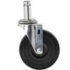 "Rubber Swivel Stem Casters for 1"" chrome wire shelf posts (thread less)"