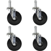 Rubber Stem Casters - 4 Pack