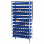 Indicator Bin Wire Shelving System