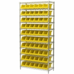 System Bin Wire Shelving Units with Akro Bins for storage