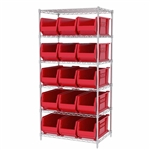 Super-Size AkroBin Wire Shelving Systems - Red