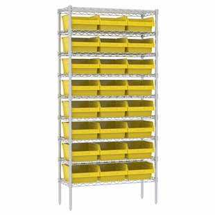 Super-Size AkroBin Wire Shelving Systems - Yellow