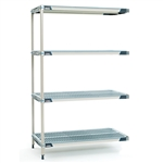 "24""d MetroMax i Antimicrobial 4-Shelf Add-On Units"