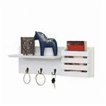 Utility Shelf w/ Pocket and Hanging Hooks