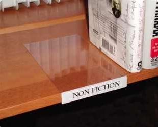 Movable Book Shelf Label Holder