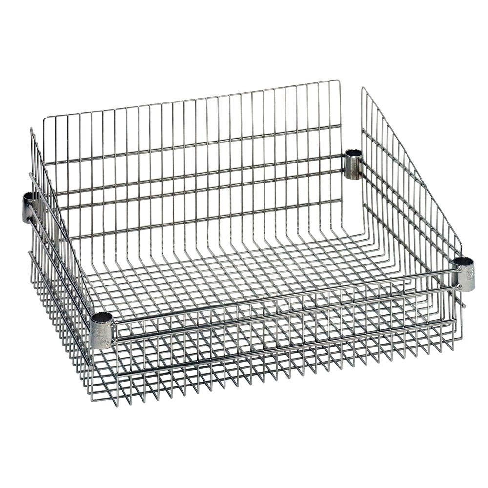 d Shelf Basket for Wire Shelving by Quantum | Shelving.Com