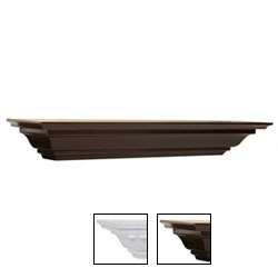 Crown Moulding shelf 5 in. d x 24 in. w in white and espresso