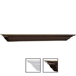 Crown Moulding shelf 5 in.deep x 60 in. wide in espresso and white finish