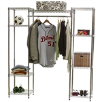 Wire Shelving Closet System w/ Clothes Rod