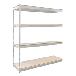 "30""d Double Rivet Shelving Add On Units with 4 Levels"