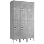 "Double Tier Lockers -12""d x 12""w x 78""h - Gray"