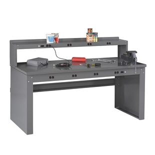 Electric Workbench w/ Electric Riser & Steel Top
