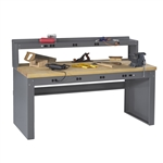 Electric Workbench w/ Electric Riser & Hardwood Top