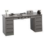 Modular Electric Workbench w/ 2 Drawer Units