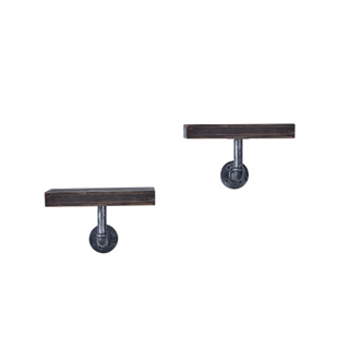2-Piece Floating Pipe Wall Shelf - 12""