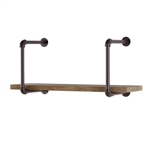 Industrial Pipe Wall Shelf