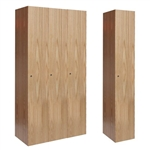 All-Wood Club Lockers - Single Tier