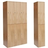 All-Wood Club Lockers - Double Tier