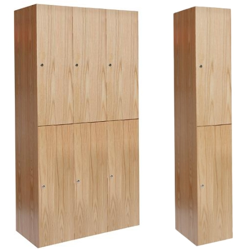 Wooden Club Lockers Double Tier Hallowell