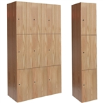 All-Wood Club Lockers - Triple Tier