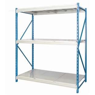 "Hallowell Bulk Rack w/ Solid Steel Decks - 48""w x 87""h"