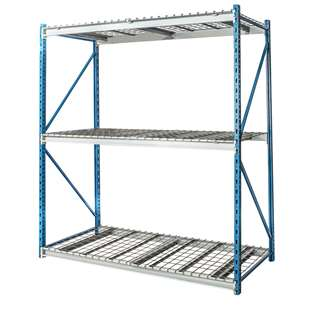 "Hallowell Bulk Rack w/ Wire Decks - 96""w x 123""h"