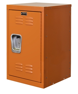 "Kids Orange Mini Locker 15""w x 15""d x 24""h"