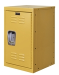 "Kids Yellow Mini Locker 15""d x 15""w x 24""h"