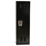 "Kids Black Locker 15""w x 15""d x 54""h"
