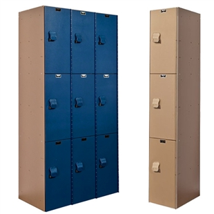 AquaMax Plastic Lockers - Triple Tier