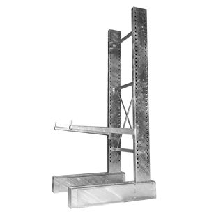 "16'h Single Sided Galvanized Cantilever Rack with 48"" Arms"