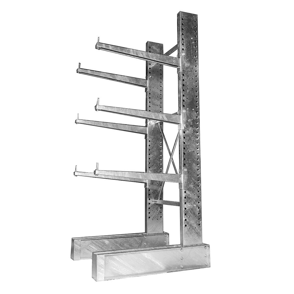 8\'h Single Sided Galvanized Cantilever Rack with 48\