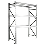 12'h Galvanized Pallet Rack Starter Unit