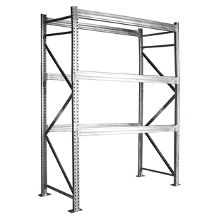 16'h Galvanized Pallet Rack Starter Unit