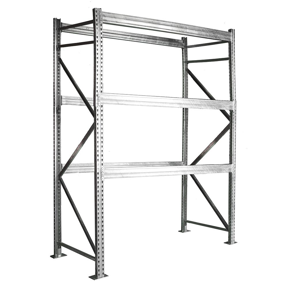 h HD Galvanized Pallet Rack Starter Unit | Shelving.com