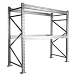 8'h Galvanized Pallet Rack Starter Unit