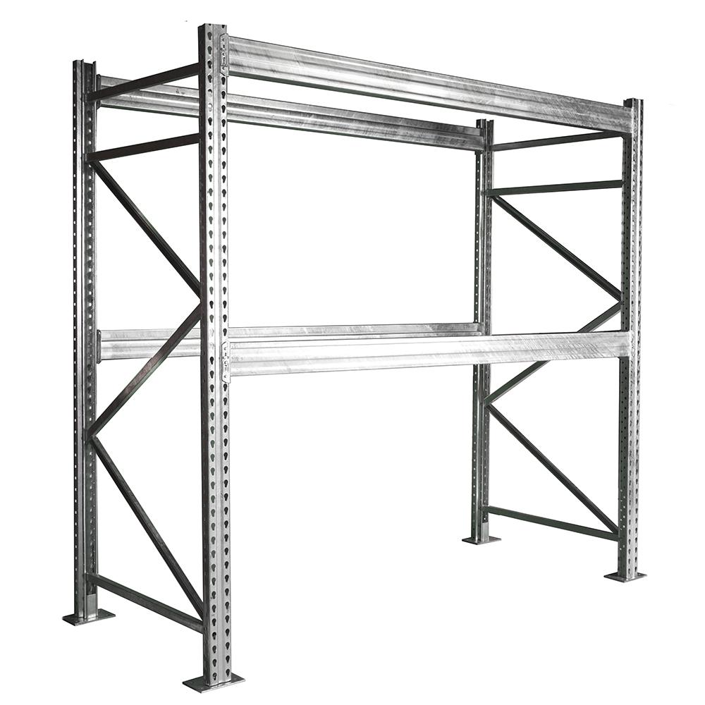 h SD Galvanized Pallet Rack Starter Unit | Shelving.com