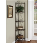 "Copper Metal 70""h Corner Display Etagere"