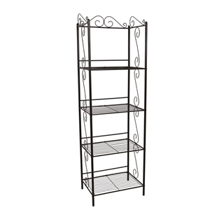Scrolled Copper Metal Etagere