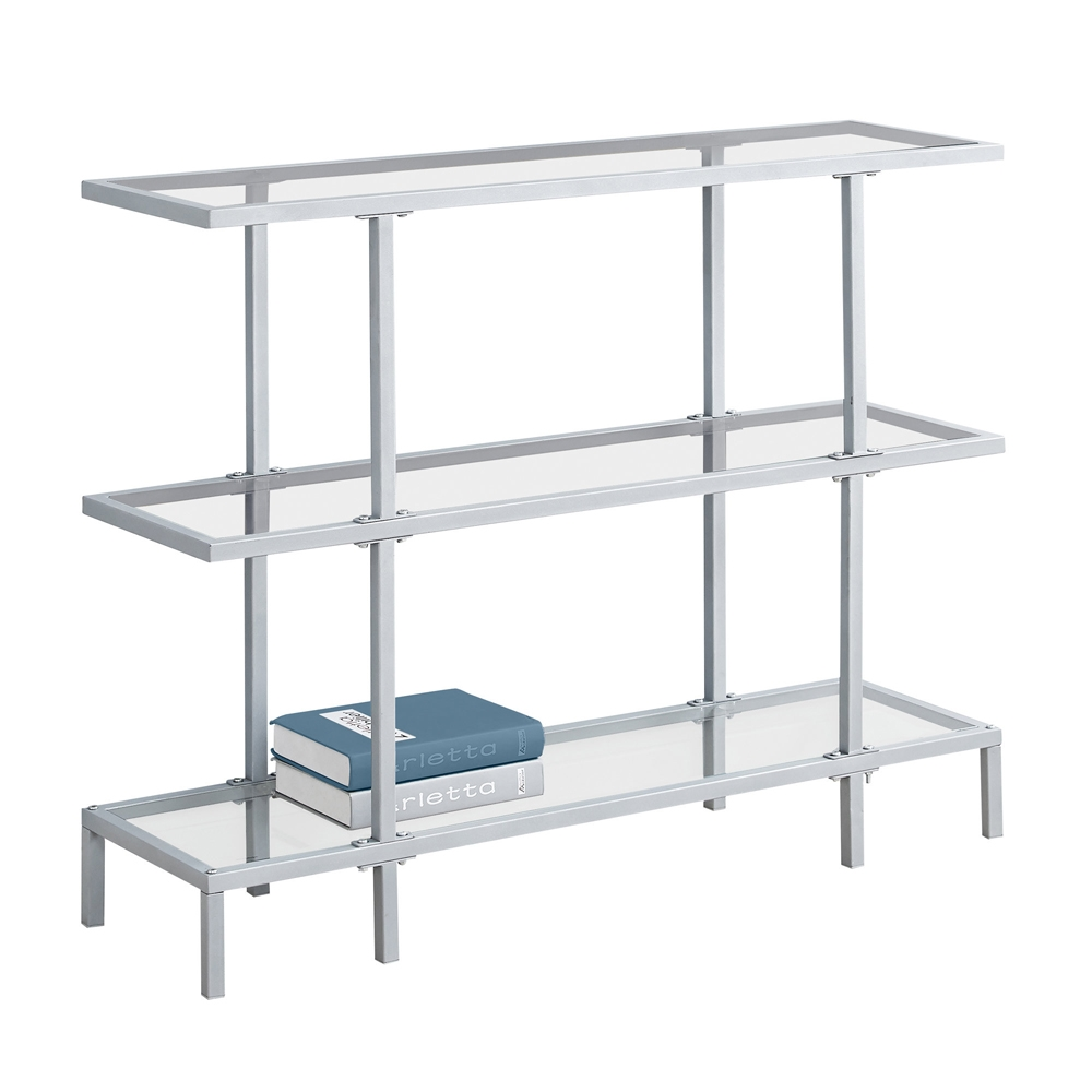 Barely There Silver And Glass Hall Console Shelving Com
