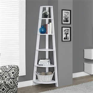 "Corner Accent Display Etagere 72""h"
