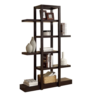 "Cappuccino 71""h Open Concept Display Etagere"