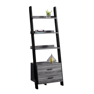 4-Shelf Contemporary Ladder Bookcase