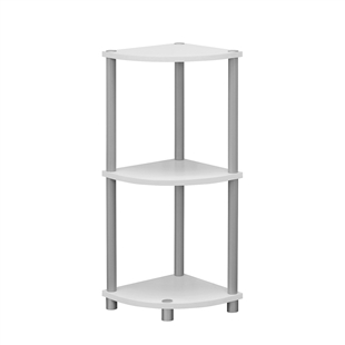 Corner Accent Table - Reversible White/Black