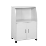 White Kitchen Cabinet Cart