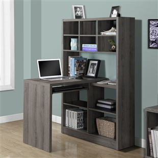 Reclaimed Wood-Look Corner Desk