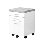 Mobile Filing Cabinet - White/Cement-Look